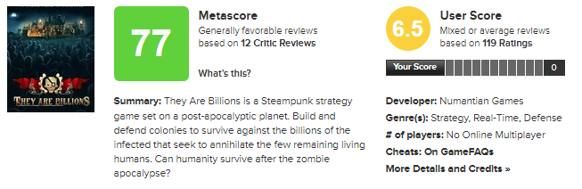 they are billions metascore